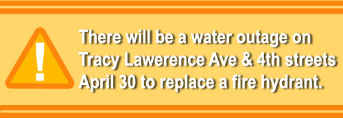 Water Outage April 30